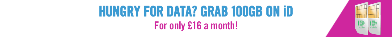 Hungry for data? Grab 100GB on iD. Only 16 a month